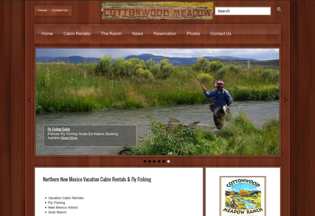 Cottonwood Meadow Ranch New Mexico Streamside Fly Fishing Cabin Rentals