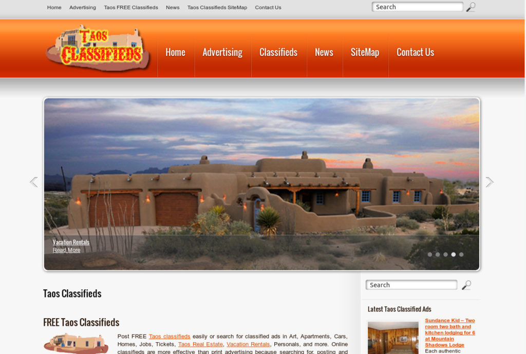 Taos New Mexico Classifieds